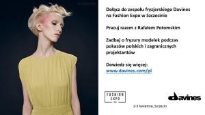 Davines Dołącz do zespołu fryzjerskiego Davines i Rafała Potomskiego