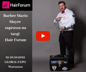 Barber Mario Mayer zaprasza na targi Hair Forum